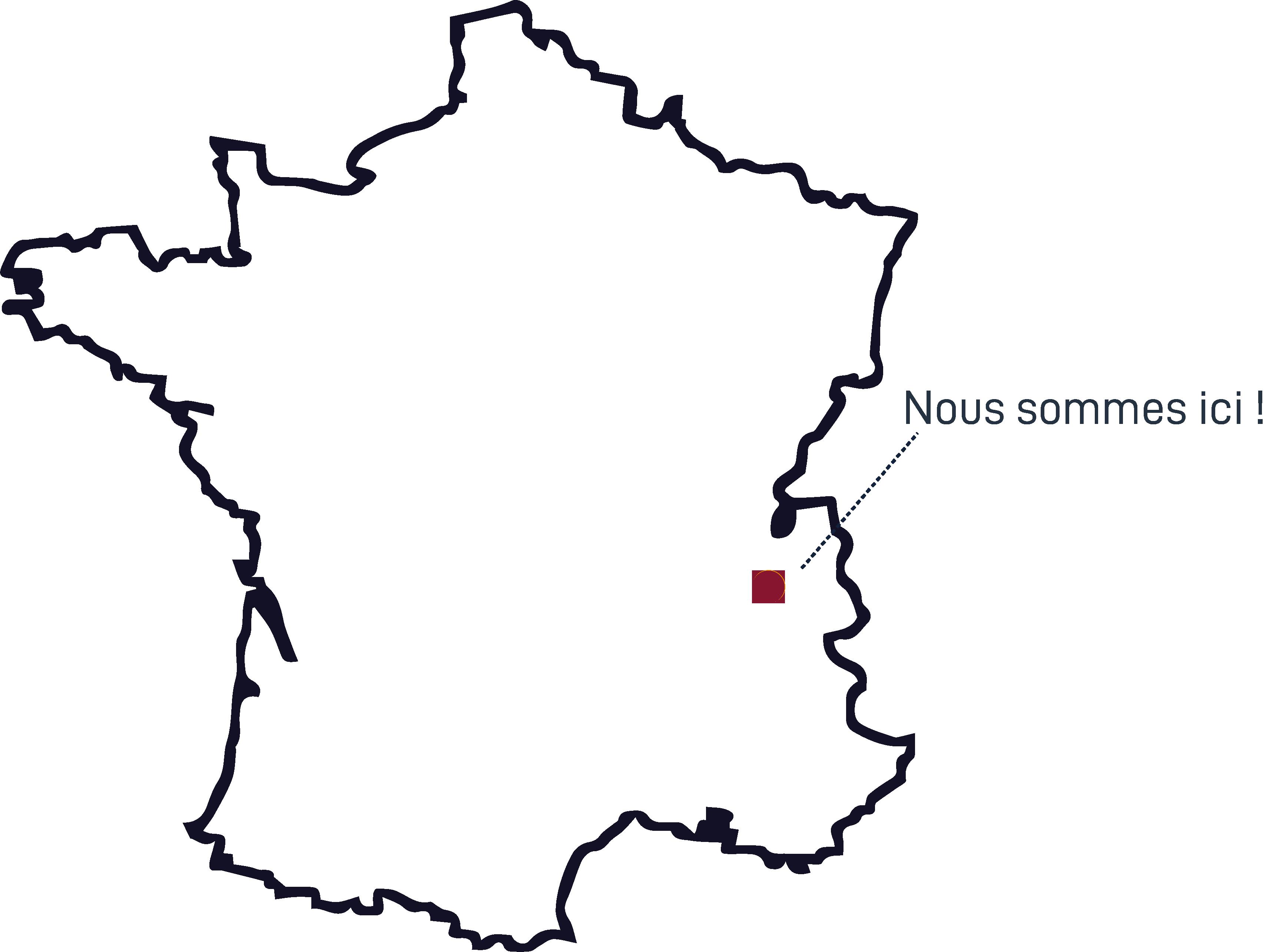 Carte France - Où sommes nous | NC Distribution, Pont-de-Beauvoisin, Domessin