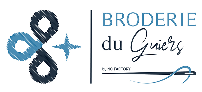 Logo Broderie du Guiers by NC Factory